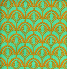 Fabric 'Plume in Teal' by Anna Maria Horner (USA). For sale in our Retail or online store.