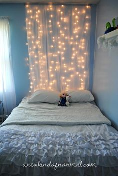 """Frozen Inspired Bedroom for a little girl....."".   I think you mean 21 year old girl in college.."