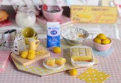 Miniature Baking Lemon Bars Set by CuteinMiniature on Etsy