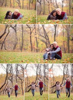 11 couples photos in the park fall colors