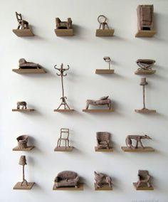 """""""Homework"""" Crochet art by Annemarie van Hooff"""