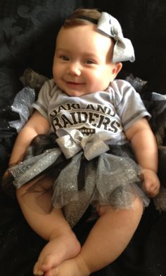 Oakland Raiders Tutu & Matching Headband  new by PinkLaundryEvts, $27.50