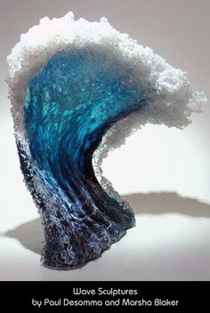 These particular pieces are created by glass artisans and husband and wife team, Marsha Blaker and Paul DeSomma. I'm crazy about them. They truly remind me of real waves...