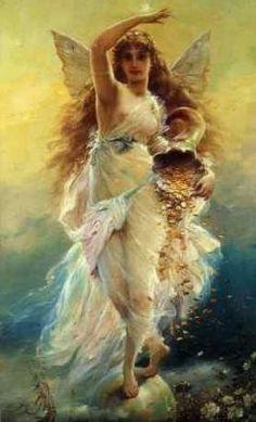 豊穣の女神。女神の絵アイデア