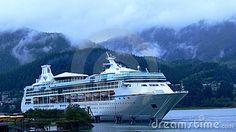 Navio de cruzeiros em Alaska