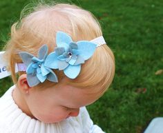 double felt flower headband