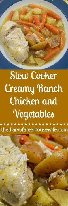 Slow Cooker Creamy Ranch Chicken and Vegetables. Slow cooker food makes the BEST party food. Warm all night for your guest. Best Slow Cooker, Crock Pot Slow Cooker, Crock Pot Cooking, Slow Cooker Chicken, Slow Cooker Recipes, Crockpot Recipes, Chicken Recipes, Cooking Recipes, Crockpot Chicken And Vegetables