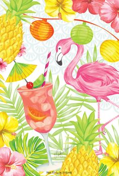 Flamingo Party - Refreshing cocktail of chilled strawberries, lemons, and tropical fruit. $2.50
