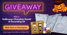 Enter to win a Halloween Chocolate Mould & Decorating Kit! Free Samples Uk, Boating Holidays, Halloween Chocolate, Girl Cakes, Chocolate Molds, Home Based Business, Autumn Home, Birthday Cakes, Fairies