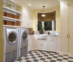 Laundry Room. Everyone needs a well-designed Laundry Room like this one!  #LaundryRoom #Interiors