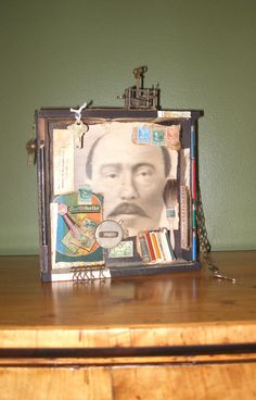 Assemblage with Vintage Male Photo Monsieur Otto Max by SouleArt