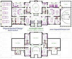 blueprints on Pinterest | Floor Plans, House plans and Hogwarts