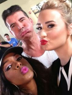 Demi, Simon and Kelly (:
