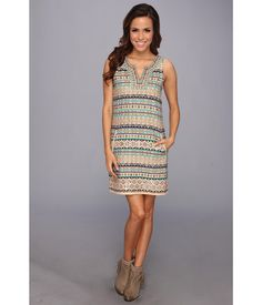 Turn every head without even trying in this stunning Lucky Brand® dress.. Sleeveless dress in a sh...