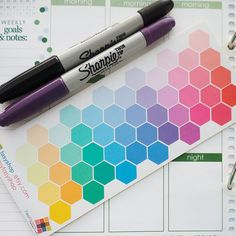 48 Hexagon Shapes Sticker Planner  // Perfect for Erin Condren Life Planner by FasyShop on Etsy