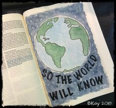 The Great Commission applies to all believers; however, God does call and equip specific individuals to go and serve in specific ways. Bible Journaling For Beginners, Art Journaling, Scripture Art, Bible Art, In Christ Alone, Illustrated Faith, My Bible, How To Know, My Arts