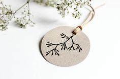 Pflanzen - Stempel Blütenzweig, handgeschnitzt 4x4cm - ein Designerstück von halfbird bei DaWanda