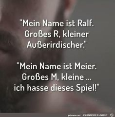 mein Name ist Ralf.......