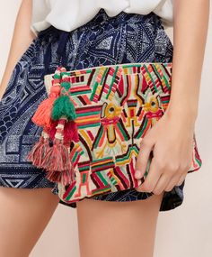 Embroidered bag - OYSHO