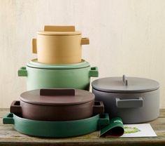 Colorful Cookware: Terra Cotto Ceramic Pots from Italy – Remodelista – Tableware Design 2020 Ceramic Pots, Terracotta Pots, Ceramic Pottery, Kitchen Items, Kitchen Gadgets, Kitchenware, Tableware, Cookware Set, Furniture