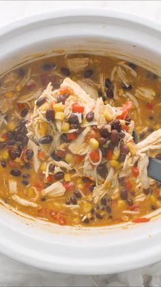 Crockpot Chicken Enchilada Soup Slow Cooker Chicken Enchilada Soup – Creamy, warm and absolutely delicious! One of my favorite 'set it and forget it' crockpot meals that's perfect for busy weeknights! Crock Pot Soup, Slow Cooker Soup, Crock Pot Cooking, Slow Cooker Chicken, Cooking Tips, Budget Cooking, Easy Cooking, Healthy Soup Recipes, Mexican Food Recipes