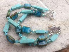 Howlite with Czech glass beads