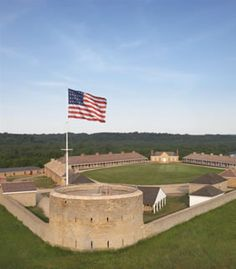 Fort Snelling (Minneapolis/St. Paul Minnesota) - a great living history exhibit (summer months).  Looks out over the Mississippi river -- fur trading history.  Full day of adventure.