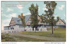 Illinois Peoria Country Club House At Prospect Heights 1911 Pekin Illinois, Prospect Heights, Old Postcards, Great Pictures, Ancestry, Iowa, Birth, America, Club