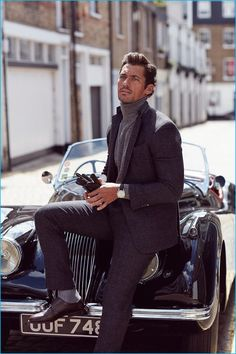 David Gandy photographed by Arnaldo Anaya-Lucca for Vanity Fair UK On Route.