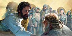 Gesù si avvicina a un uomo malato alla piscina di Betzata