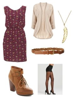 """""""Fall Dress"""" by jkhames ❤ liked on Polyvore featuring Seychelles, Hue, Great Plains, Oasis, Sakdidet Road, women's clothing, women, female, woman and misses"""