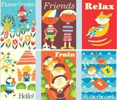 Vintage.De jolies illustrations pour une chambre d'enfant