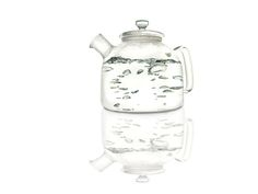Alasdair Glass Tea Kettle. Awesome for any tea lover.
