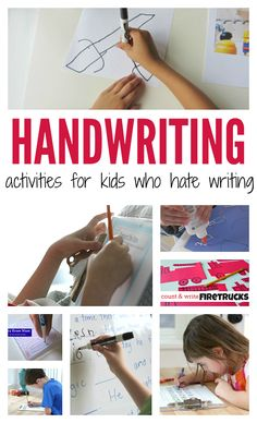 handwriting activities for kids who hate to write. THese are awesome activities for reluctant writers.