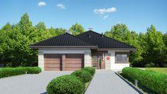 Wizualizacja Dom przy Pastelowej 9 CE House Layout Plans, My House Plans, Small House Plans, House Layouts, Planer, Garage Doors, Sweet Home, Sidewalk, How To Plan