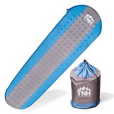 #1 Premium Self Inflating Sleeping Pad Lightweight Foam Padding and Superior Insulation Great For Hiking & Camping Thick Outer Skin. For product info go to:  https://all4hiking.com/products/1-premium-self-inflating-sleeping-pad-lightweight-foam-padding-and-superior-insulation-great-for-hiking-camping-thick-outer-skin/