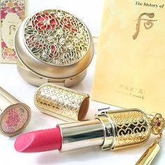 The history of whoo luxury lipstick. Such a pretty coral pink shade…