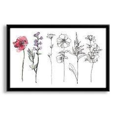 Sketch Botanical Print #westelm Bedroom artwork option over bed.