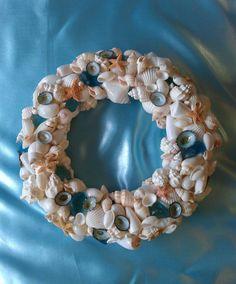 Seashell Sea Glass Starfish Wreath by AShoreThingCreations on Etsy