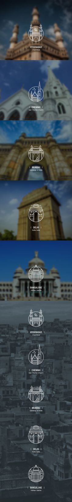 City Icons by Abhishek Chaudhary