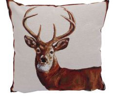Country-Lodge-Horse-Beagle-or-Stag-17in-x-17in-Tapestry-Cushion-Covers