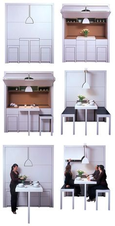 Compact Kitchen.. this would be a good idea for a basement or garage apartment :)