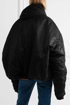 Vetements - Alpha Industries Oversized Hooded Reversible Shell Bomber Jacket - Black - x small