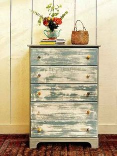 got milk paint? bureau new from unfinished furniture store. layers of milk paint, sanded Unfinished Furniture, Distressed Furniture, Repurposed Furniture, Painted Furniture, Distressed Dresser, Furniture Projects, Furniture Makeover, Home Projects, Diy Furniture