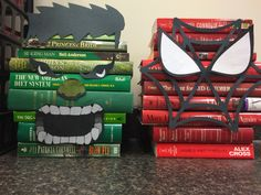 Monster book display for halloween! School Library Displays, Middle School Libraries, Library Themes, Library Activities, Elementary Library, Library Design, Library Decorations, Library Ideas, Library Work