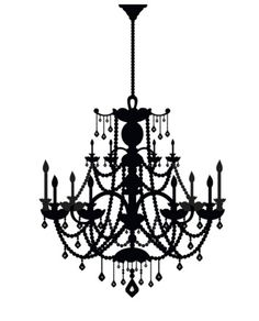 Peel and Stick Wall Decal - Rhinestone Chandelier. This will be going up on my wall. My New Room, My Room, College Furniture, Wall Stickers, Decals, Paris Rooms, Wall Murals, Wall Art, Origami
