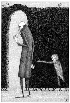 this one from Uncle Montague's Tales of Terror … Arte Horror, Horror Art, Scary Art, Creepy, Ink Illustrations, Illustration Art, John Kenn, Scary Drawings, Edward Gorey