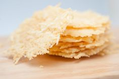 Parmesan Crisps -- a grain-free alternative to chips.