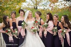 Enchanted forest Wedding. Purple bridesmaids