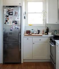 Eight Narrow, CounterDepth Refrigerators Apartment
